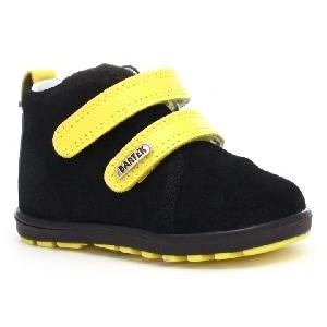Trzewiki BARTEK W-11773-0/66S, dla chłopców, czarno-żółty 11773/0-66S