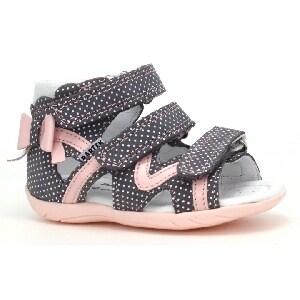 Sandały BARTEK W-11707-7/1G7, dla dziewcząt, różowo-czarny W-11707-7/1G7