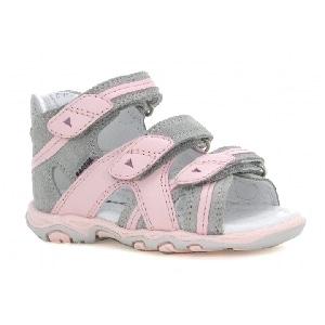 Sandały BARTEK T-011708-5/UPA II, dla dziewcząt, szaro-różowy T-011708-5/UPA II