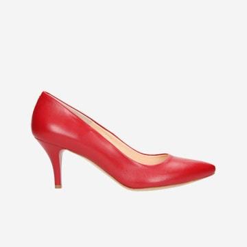 Czerwone damskie czółenka 4408-53