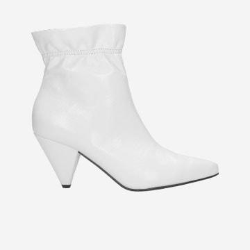 Białe damskie botki 8645-59