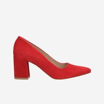 Czerwone czółenka damskie 9269-65
