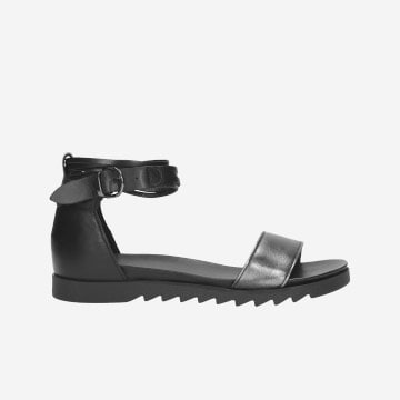 Čierne dámske sandále pre všetky rebelské duše 76013-51