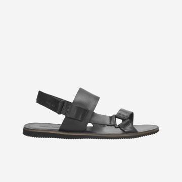 Czarne sandały męskie 9241-51