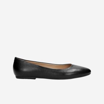 Černé dámské balerínky z kvalitní hladké kůže 6420-81