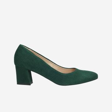 Zielone czółenka 9296-67