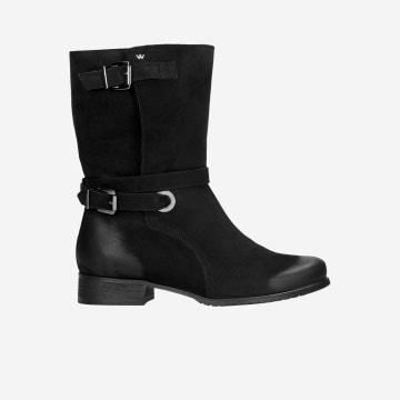 Czarne botki damskie 9577-21