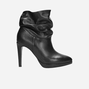 Czarne botki damskie 9532-51