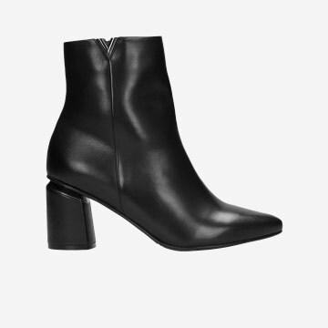 Czarne botki damskie 9590-51
