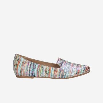 Loafers dámske ako kožená vychádzková obuv multicolor 45003-65