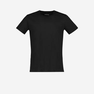 Czarna koszulka męska V 98000-81