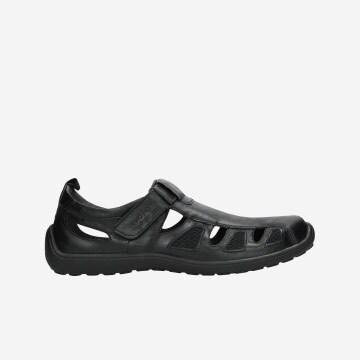Czarne półbuty męskie w stylu comfort 2156-01