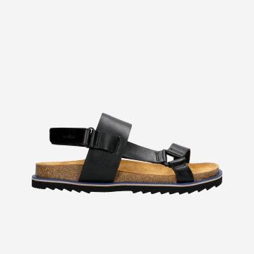 Czarne klasyczne sandały męskie na lato 29002-51