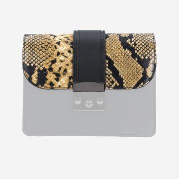 Klapka do torebki z wężowym motywem  80056-08