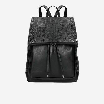 Czarny plecak damski w stylu miejskim 80073-51