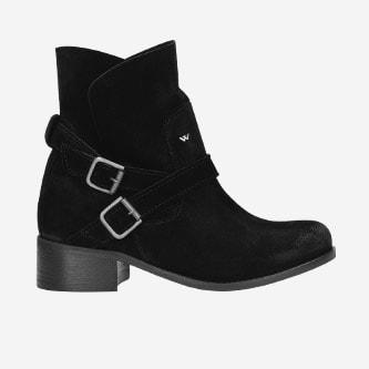Czarne wsuwane botki damskie 55040-61