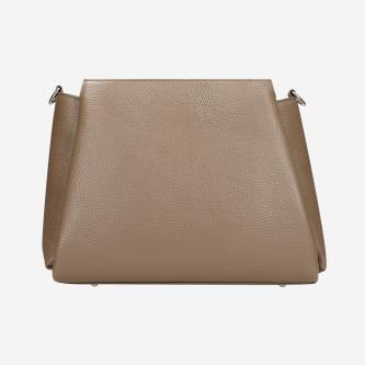 Beżowa torebka damska ze skóry licowej 80106-54