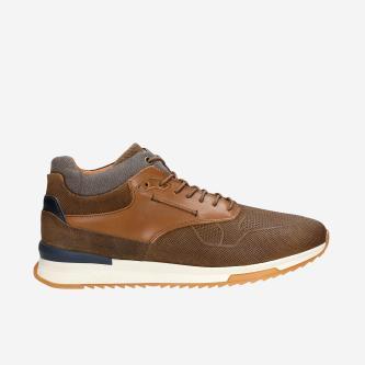 Robustní hnědé botasky pánské z kvalitní kůže 24024-83