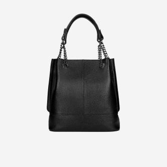 Duża czarna torebka damska 80105-51