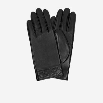 Czarne rękawiczki damskie z podszewką antybakteryjną 98120-51