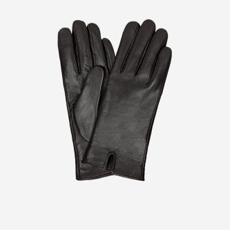 Brązowe skórzane rękawiczki damskie 98115-52