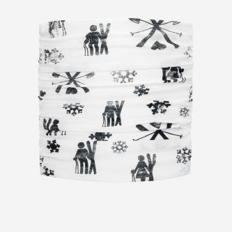 Czarno-biała bandana FLOW EXPERIENCE K000005-19