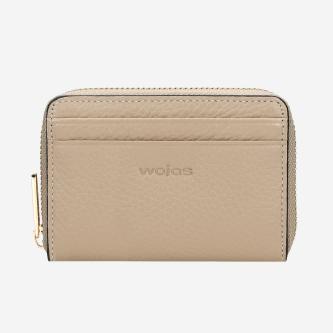 Beżowy portfel damski zapinany na zamek 91020-54