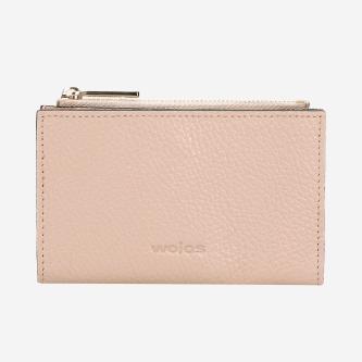 Jasnoróżowy kompaktowy portfel damski 91022-55