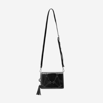 WJS czarna torebka z geometrycznymi wycięciami WJS76001-51