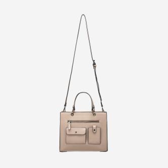 WJS beżowa torebka damska z kieszonkami WJS76002-54