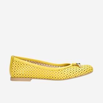 Żółte baleriny w stylu urban 44006-58