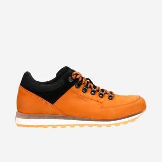 Pomarańczowo-czarne trekkingi męskie 10078-75