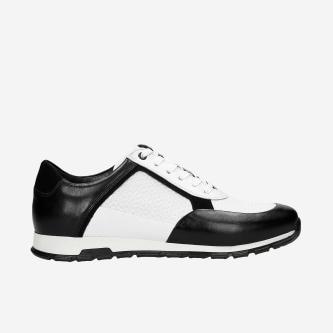 Biało-czarne snekaersy męskie  10082-71