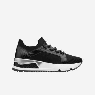 WJS modne czarne sneakersy damskie WJS64016-71