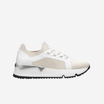 WJS beżowo-białe sneakersy damskie WJS64016-74