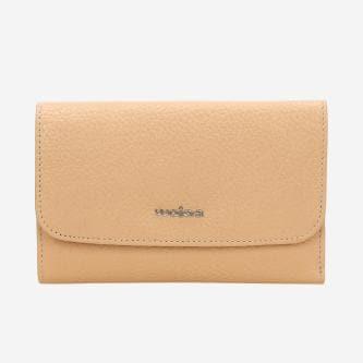 Beżowy pastelowy portfel damski  91018-53