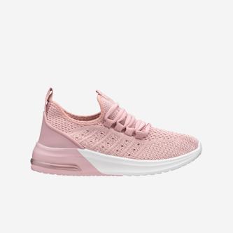 WJS różowe sznurowane półbuty damskie  WJS64030-15