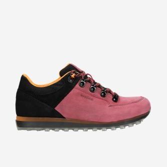 Różowe trekkingi damskie z czarnymi wstawkami 46083-95