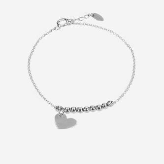Srebrna bransoletka damska z serduszkiem 98906-80