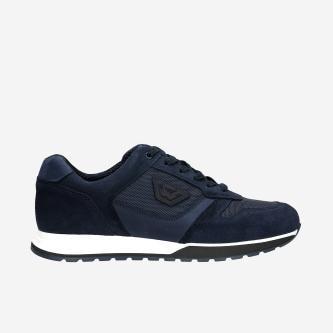Granatowe sneakersy męskie z weluru 10095-86