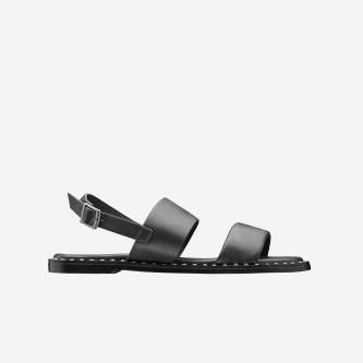 WJS czarne klasyczne sandały damskie WJS74023-51