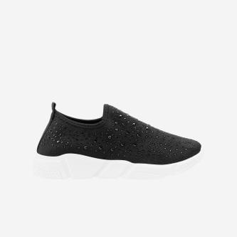 WJS czarne wsuwane sneakersy damskie WJS64028-11