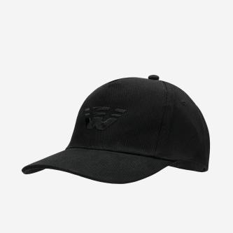 Czarna czapka z daszkiem z haftowanym logo 96009-11