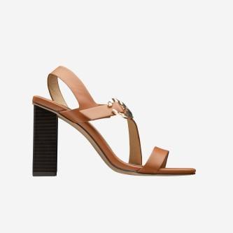 WJS sandały damskie brązowe na słupku WJS74018-53
