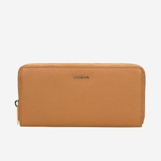 Duży skórzany portfel damski w kolorze jasnego brązu 91019-53