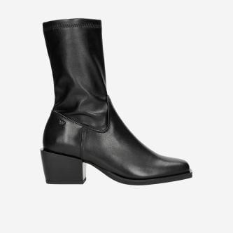 Czarne wysokie botki damskie na jesień 55036-81