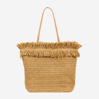 WJS duża jasnobrązowa torebka damska na lato WJS76052-43