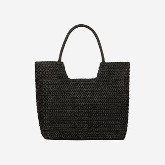 WJS czarna pleciona torebka damska na ramię WJS76057-11