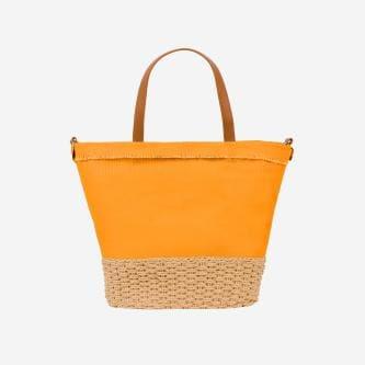 WJS pojemna pomarańczowa torebka damska na lato WJS76063-85