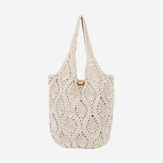 WJS duża popielata torebka damska z bawełny WJS76056-40